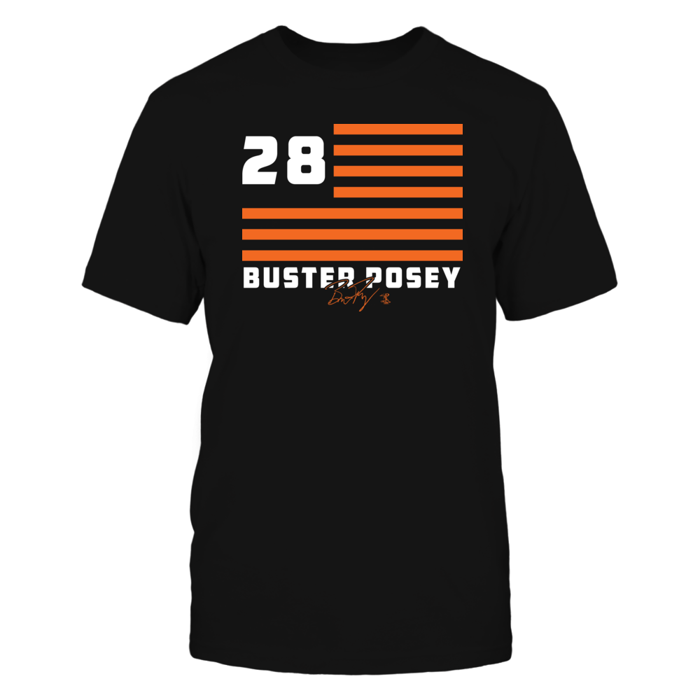 Buster Posey - Flag Stripes Front picture