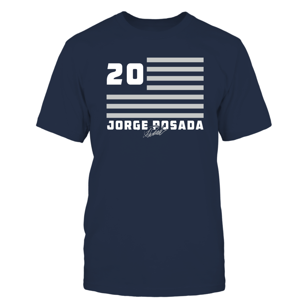 Jorge Posada - Flag Stripes Front picture