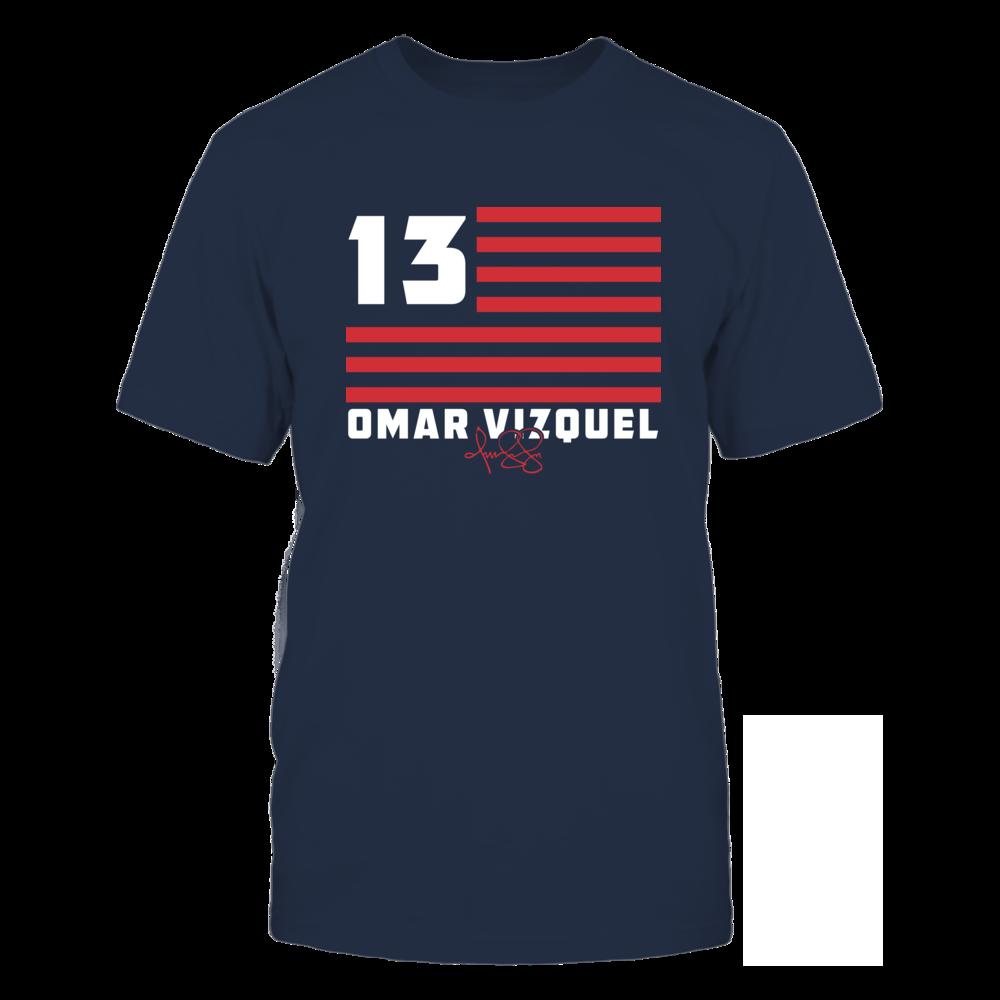 Omar Vizquel - Flag Stripes Front picture