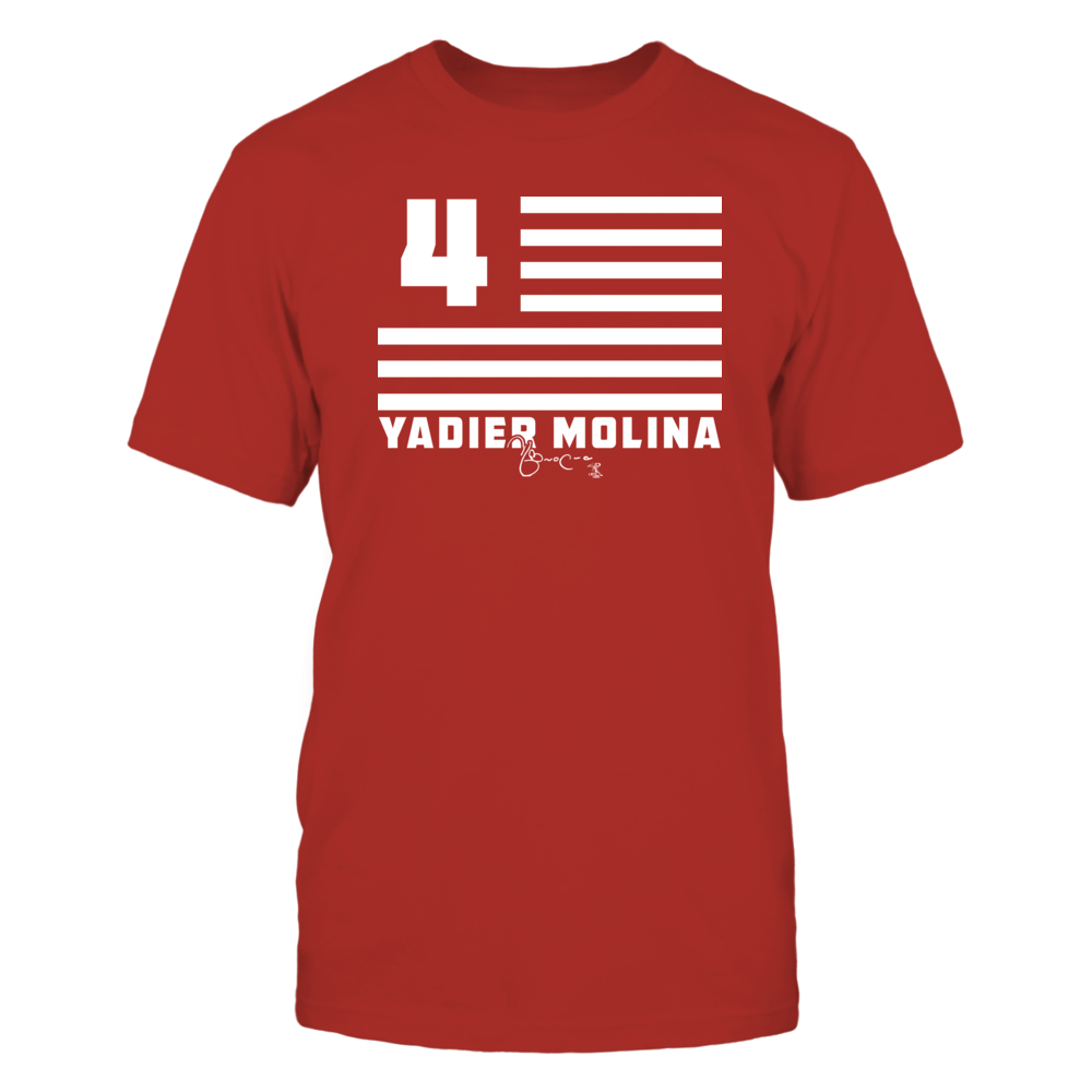 Yadier Molina - Flag Stripes Front picture