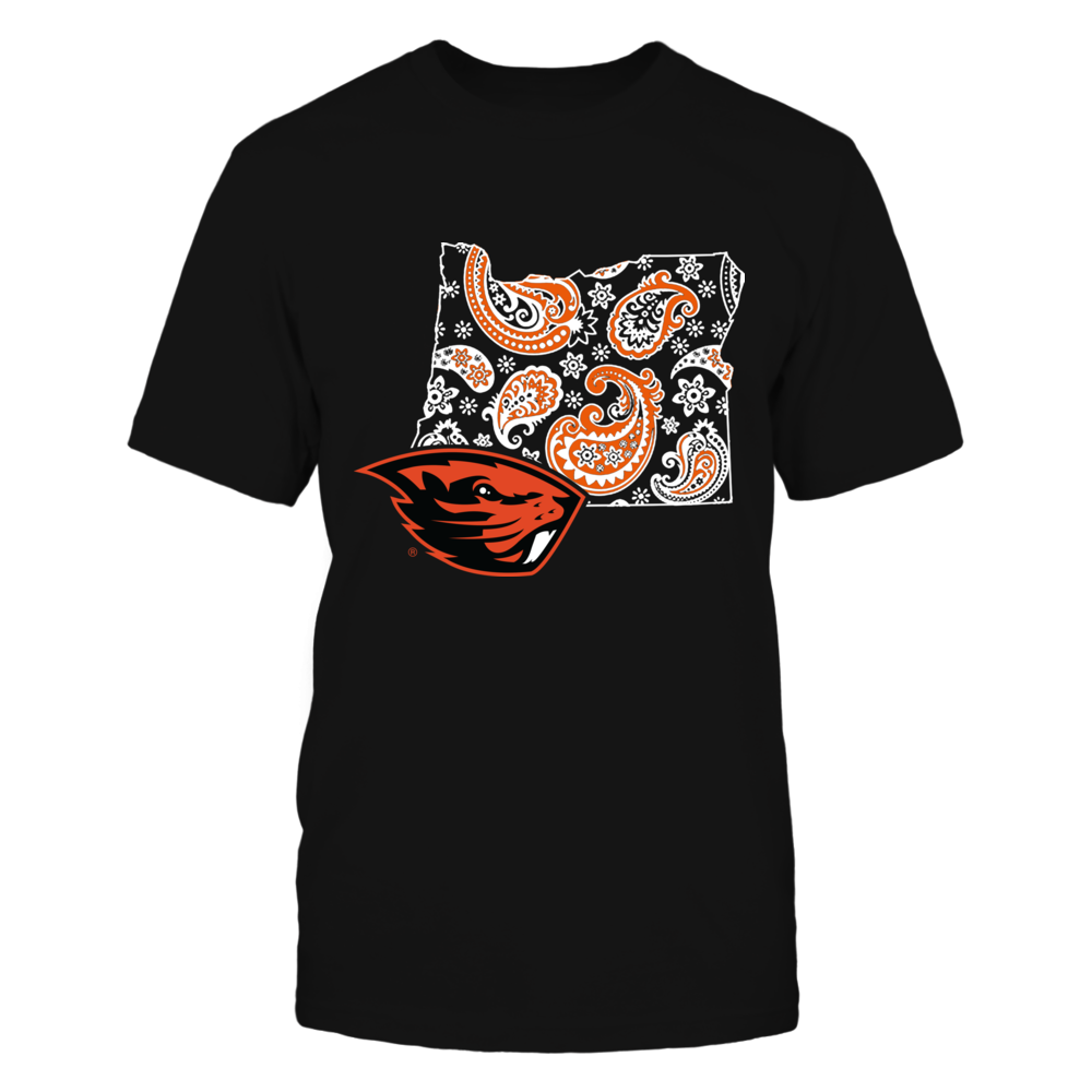 Oregon State Beavers - State map pattern Front picture